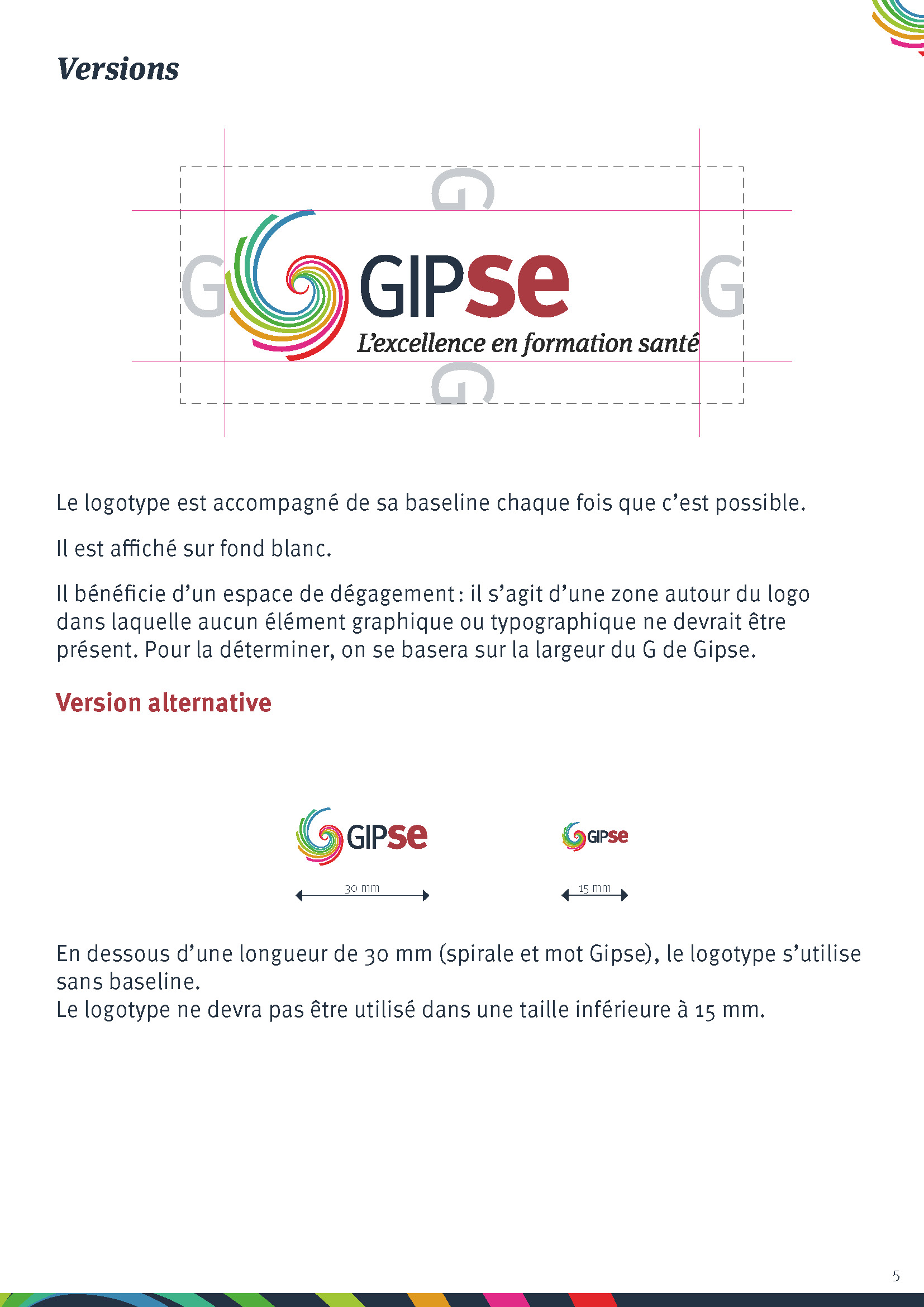 Gipse, versions du logotype