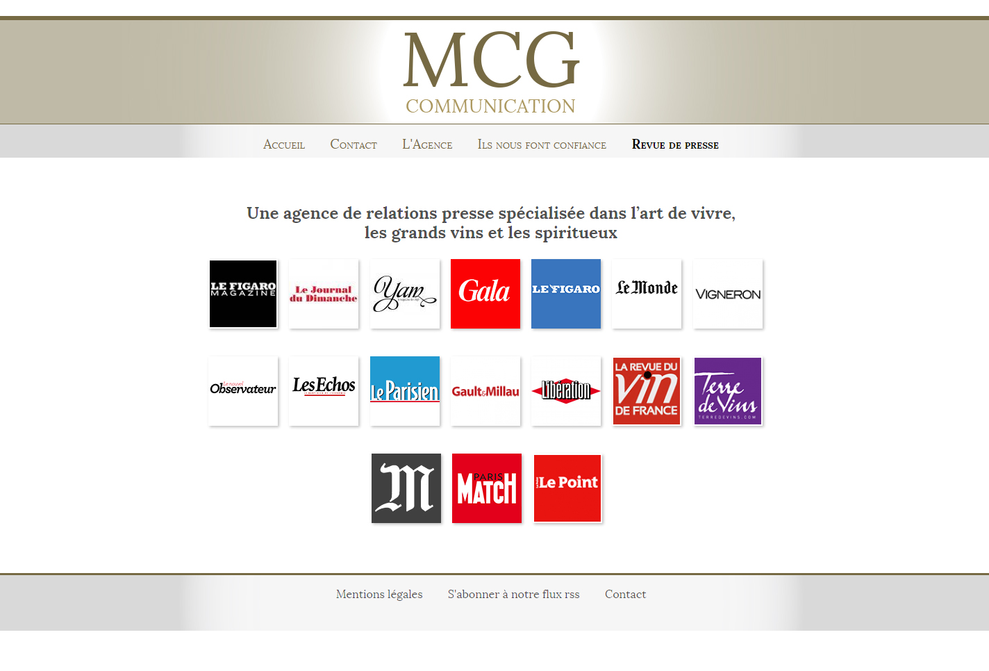 MCG communication, page presse